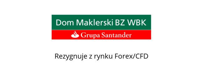 bz wbk rezygnuje z rynku forex