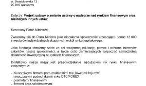 pismo trading jam session do ministerstwa finansów