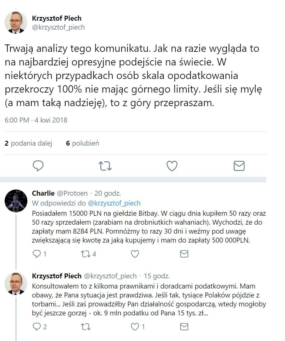 Interpretacja nowego komunikatu MF dot. kryptowalut