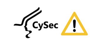 CySec ostrzeżenie