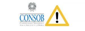 consob (włoski nadzorca rynku usług finansowych)) ostrzeżenie przeciwko nieautoryzowanym podmiotom
