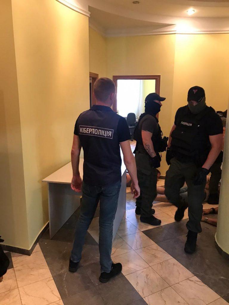 ukraińska policja zatrzymuje scamerów - źródło cyberpolicja