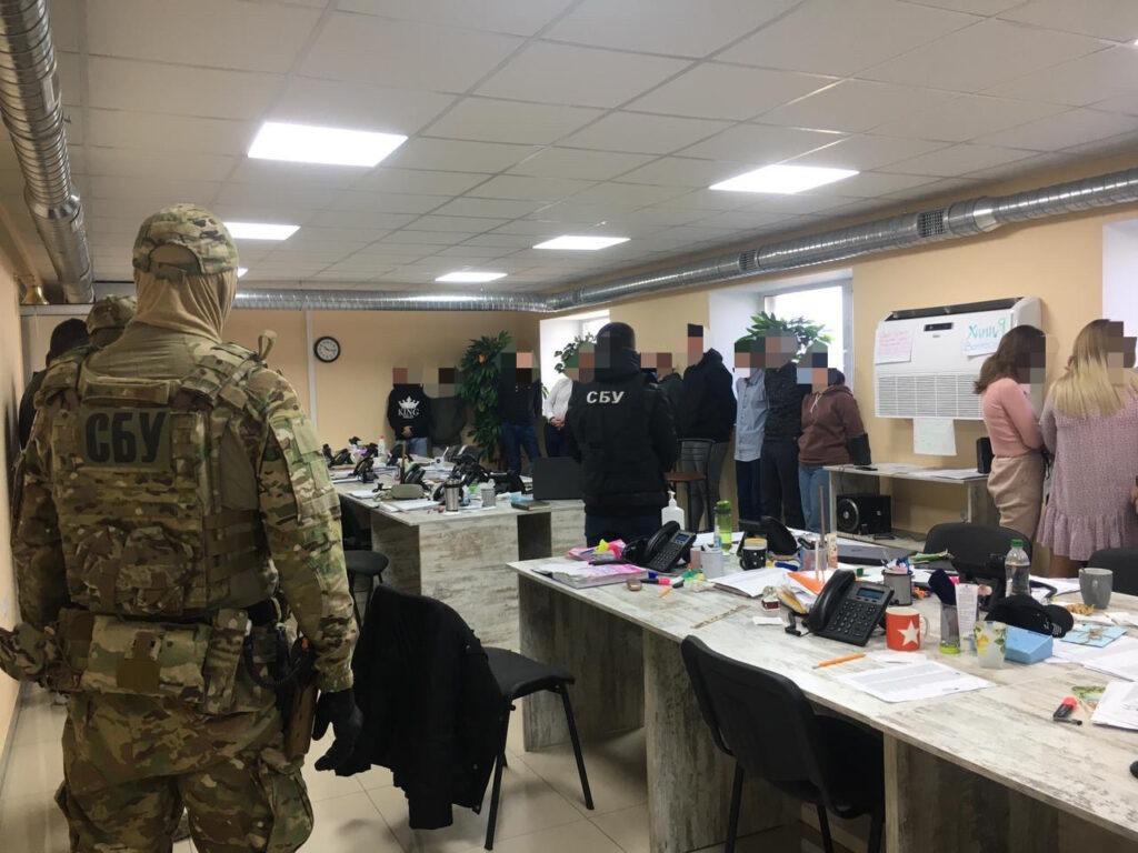 ukraińska policja w kotłowni w winnicy